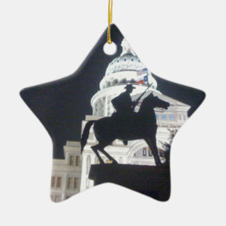 Ranger in front of TX Capitol.jpg Ceramic Ornament