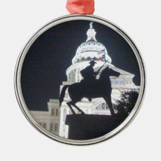 Ranger in front of TX Capitol.jpg Metal Ornament