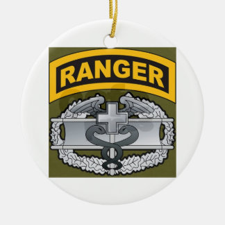 Ranger Medic Double-Sided Ceramic Round Christmas Ornament