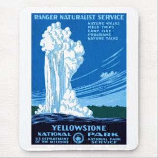 Ranger Naturalist Service ~ Yellowstone Mouse Pad