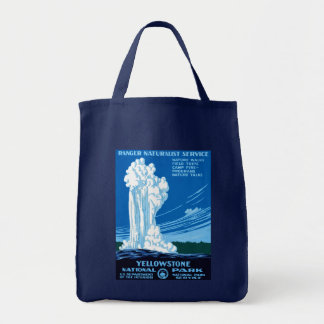 Ranger Naturalist Service ~ Yellowstone Tote Bag