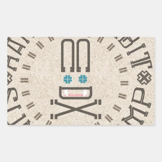 Ranger Rabbit Summer Camp Rectangular Sticker