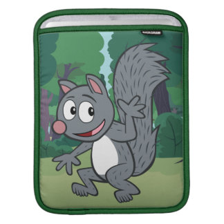 Ranger Rick | Gray Squirrel Waving Sleeve For iPads