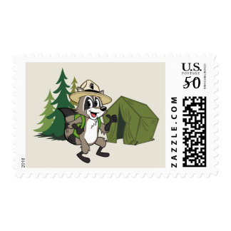 Ranger Rick | Great American Campout -Tent Postage