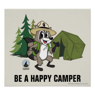 Ranger Rick   Great American Campout -Tent Poster