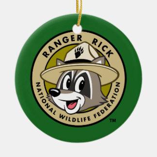 Ranger Rick   Ranger Rick Logo Ceramic Ornament