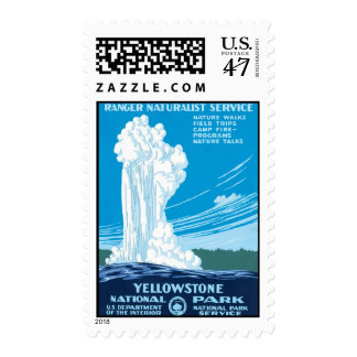 Ranger Service Yellowstone National Park Postage