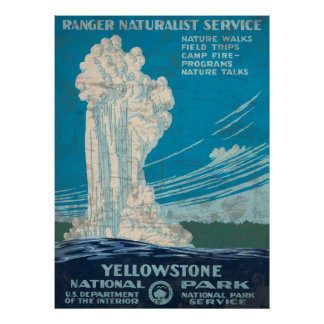 Ranger Service Yellowstone National Park Poster
