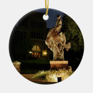 Ranger Statue at Night merchandise Ceramic Ornament