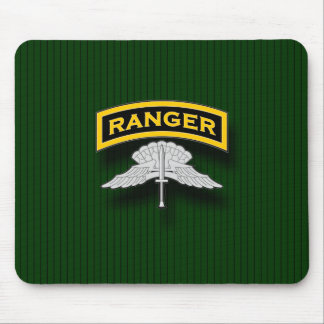 Ranger tab and HALO badge Mouse Pad