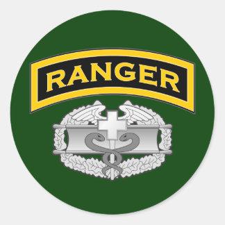Ranger tab & Combat Medic badge Classic Round Sticker