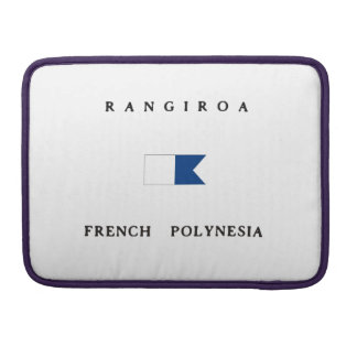 Rangiroa French Polynesia Alpha Dive Flag MacBook Pro Sleeve