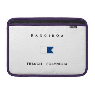 Rangiroa French Polynesia Alpha Dive Flag Sleeves For MacBook Air