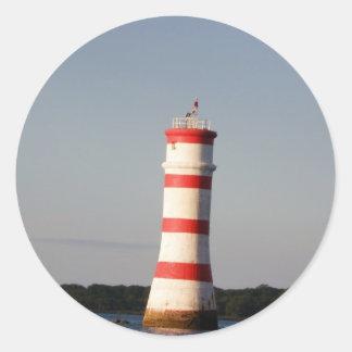 Rangitoto Lighthouse Classic Round Sticker