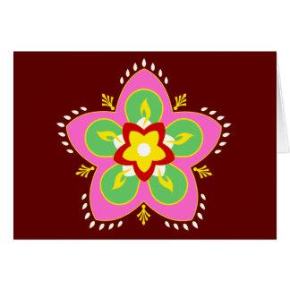 rangoli del diwali tarjeta de felicitación