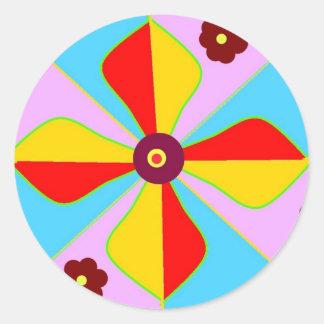 Rangoli Design Classic Round Sticker