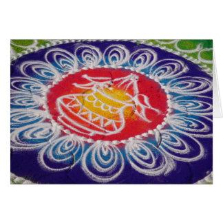 Rangoli Powder Painting, Maharashtra Card