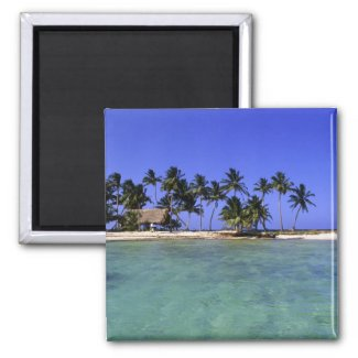 Ranguana Caye, Belize 2 Inch Square Magnet