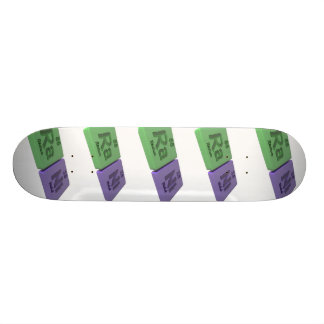Rani as Ra Radium and Ni Nickle Skateboard