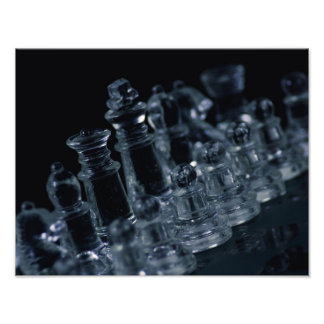 """Rank and File""- Glass Chess Pieces Photo Print"