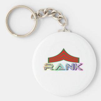 Rank items basic round button keychain
