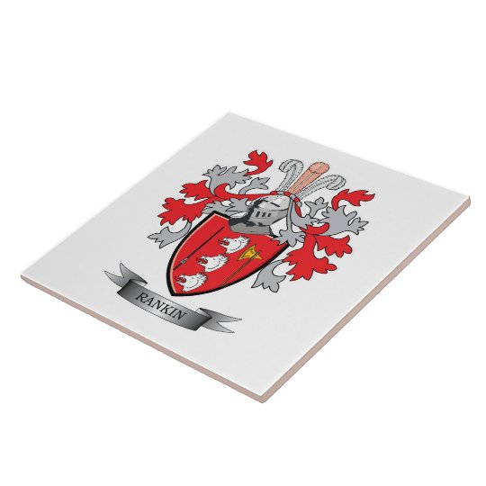 Rankin Family Crest Coat Of Arms Ceramic Tile Zazzle Com