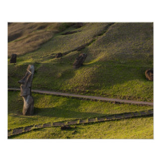 Rano Raraku, Rapa Nui, Easter Island, Chile Poster
