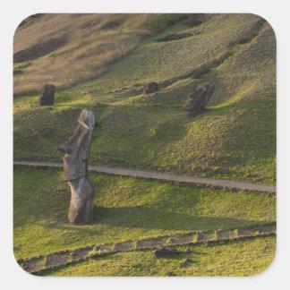Rano Raraku, Rapa Nui, Easter Island, Chile Square Sticker