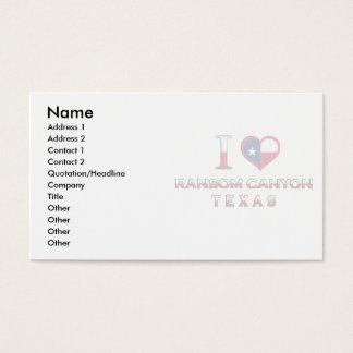 Ransom Canyon, Texas Business Card