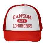 Ransom - Longhorns - High School - Ransom Kansas Mesh Hats