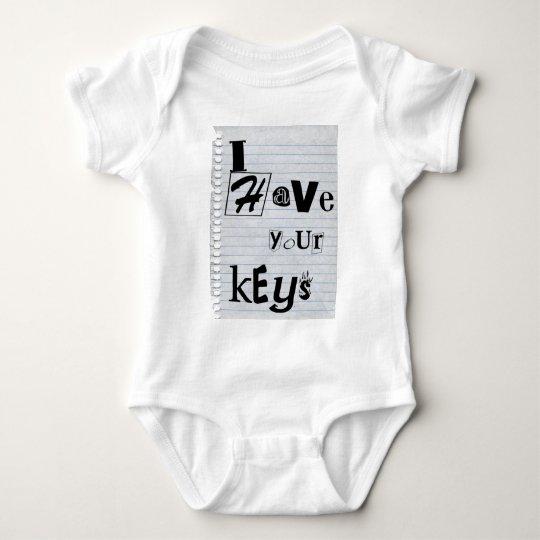 Ransom Note Baby Bodysuit