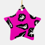 Ransom Note Circus Double-Sided Star Ceramic Christmas Ornament