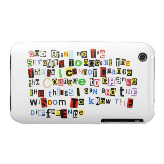 Ransom Note Serenity Prayer iPhone 3 Cases