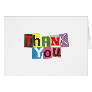 Ransom Note Thank You Notecards Card