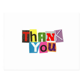 Ransom Note Thank You Postcard