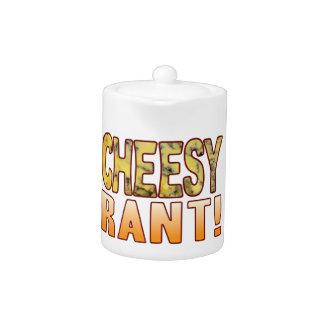 Rant Blue Cheesy Teapot