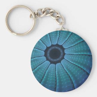 Rantath Flux Blue Futuristic Abstract Keychain