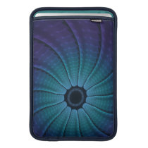 Rantath Flux Bright Blue Abstract Spiral MacBook Sleeve