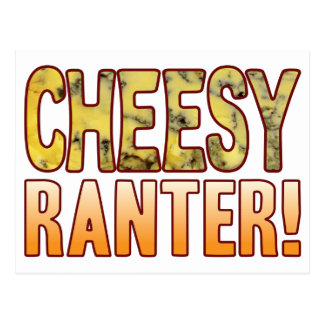 Ranter Blue Cheesy Postcard