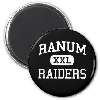 Ranum - asaltantes entrenados para la lucha cuerpo imán redondo 5 cm