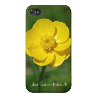 Ranúnculo amarillo iPhone 4/4S carcasas