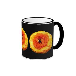Ranúnculo anaranjado taza de café