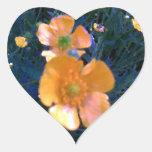 Ranúnculos hermosos calcomanías de corazones