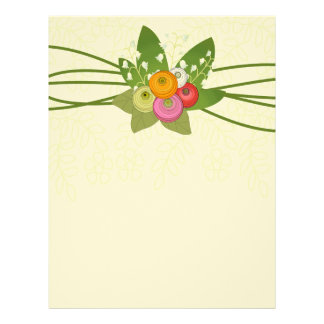 Ranunculus  and Lilly of the Valley bouquet Letterhead