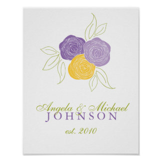 Ranunculus Bouquet Wedding Poster