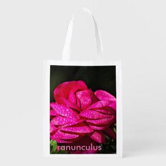 Ranunculus flower on a bag