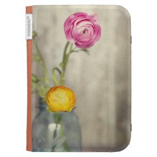 Ranunculus flowers in a Mason Jar Kindle Case