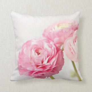 Ranunculus trio throw pillows