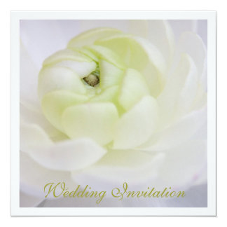 "Ranunculus Wedding Invitation 5.25"" Square Invitation Card"