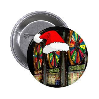 Ranuras del navidad de Las Vegas Pin Redondo 5 Cm